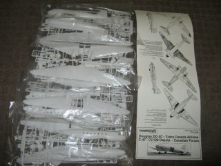 JOB LOT 4 KITS 1 100 SCALE C 47 DC 3 AIRCRAFT MODEL KITS DECALS NOT