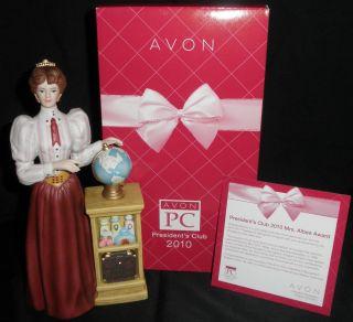 NIB Avon Mrs ALBEE Porcelain FULL Figure President Award 2010