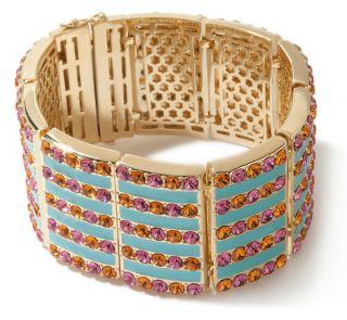 AKKAD Capri Flair Enamel and Crystal Bangle Bracelet  8 $159