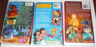 ALADDIN, RETURN of JAFAR, ALADDIN King of Thieves 3 VHS disney in