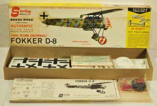 Balsa Wood Fokker D 8 Rubber Powered Flying Model Airplane Kit