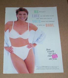 1997 ad page   Hanes Her Way Bras panties lingerie   cute girl PRINT