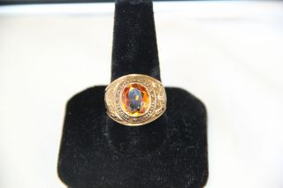 11 1 Grams HJ 10K Gold 1967 Alameda High School Class Ring Chipped