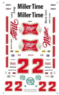 22 Bobby Allison Miller High Life 1 32nd Scale Slot Car Decals