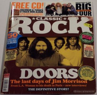 Classic Rock Free CD BTO Mini LP Doors Morrison Rush AU