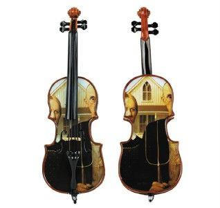 Bella Violin Cello Music Box American Gothic Painting