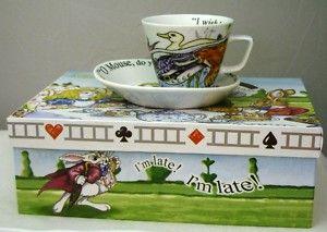 Paul Cardew Alice in Wonderland Gift Boxed Tea Cup Set