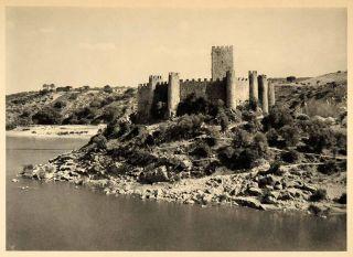 1942 Almourol Castle Knights Templar Portugal Tagus ORIGINAL