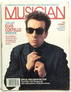 Elvis Costello Interview Ian Stewart Al Green Omar Hakim RARE