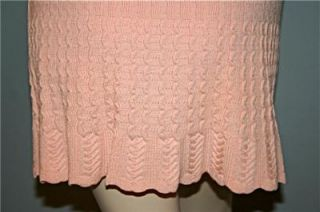 Vintage ALAIA  PARIS Peach Ribbed Scalloped w/Shorts Designer Mini