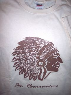 Vintage Brown Indian T Shirt NCAA Basketball Olean Allegany NY