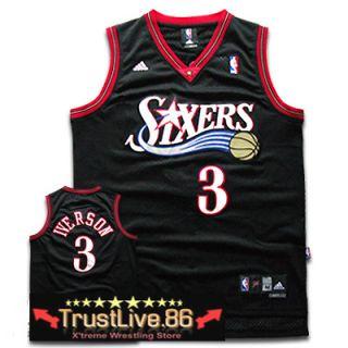 Allen Iverson Philadelphia 76ers 3 Swingman NBA Jersey