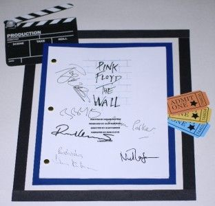 Pink Floyd The Wall Signed Movie Script rpt Written by Roger Waters