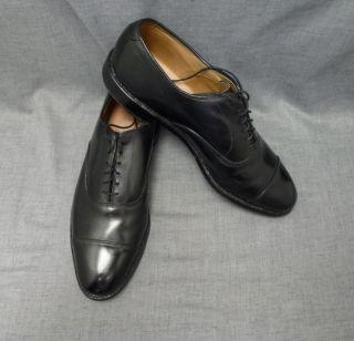 Men Allen Edmonds Park Ave Black Leather Lace Dress Shoe 10C Narrow