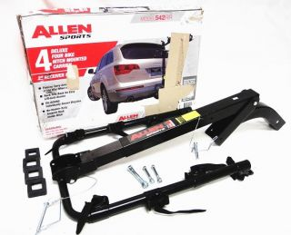 Allen Sports Deluxe 542RR Four 4 Bike Hitch Mount Car Rack 2 inch