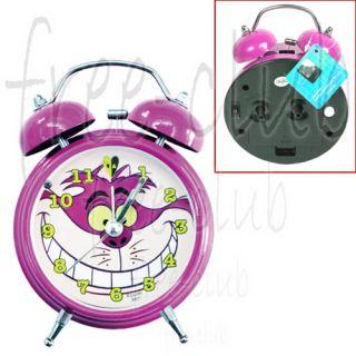 Alice in Wonderland Cheshire Cat Hammer Twin Bell Alarm Clock