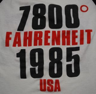 Vintage Bon Jovi 1800 Fahrenheit USA Tour T Shirt 1985 L Original