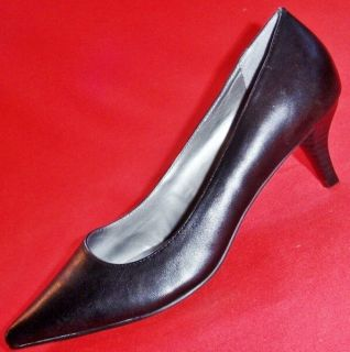 New Womens Croft Barrow Dawn Black Leather Fashion Classic Pumps