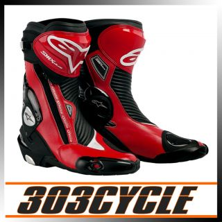 Alpinestars SMX Plus Motorcycle Racing Roadracing Boots Red Black