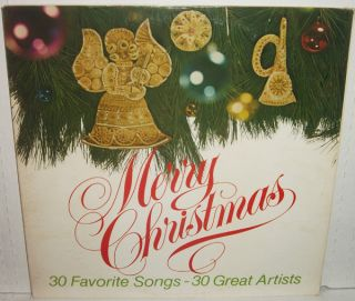 Merry Christmas 2LP 30 Songs Johnny Cash Mahalia Jackson Dean Martin