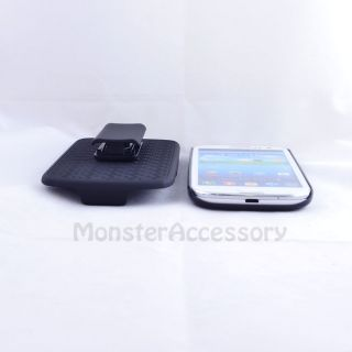 Black Aluminum Brushed Holster Combo Case for Samsung Galaxy s III 3