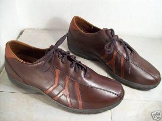 Vintage Allen Edmonds Traveler Brown Mens Leather Dress Shoes Oxford