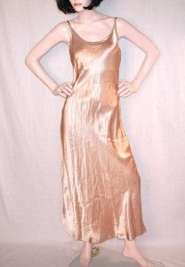 alyn paige womens full length gold slip dress sz 3 4