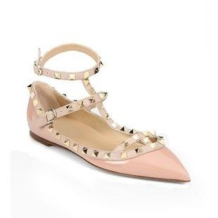 Ankle Strap Flats as Seen on Alexa Chung Pink Ships March 1st