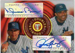 Alex Rodriguez Mariano Rivera 2005 Topps Pristine Act MVP Yankees