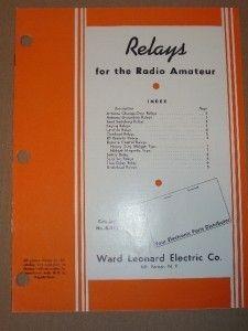 Vtg Ward Leonard Electric Catlaog Relays Amateur Radio