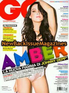 Italian GQ 3 09 Amber Heard March 2009 New