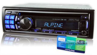Alpine in Dash Car Stereo MP3 CD iPod Pandora Receiver w Front USB Aux