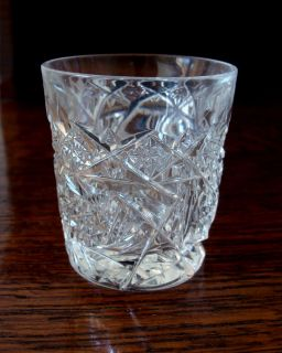 American Brilliant Period Cut Glass Whiskey Tumbler