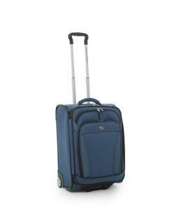 American Tourister Blue iLite Dlx 21 Roller Upright