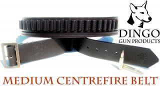 Leather Ammo Belt Centrefire Handgun Bullet 32 38
