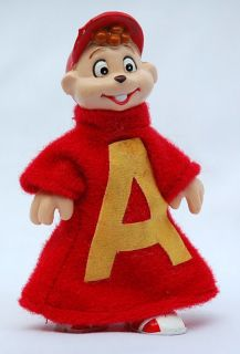 Alvin Chipmunks Vintage Poseable PVC Toy Figure 1984