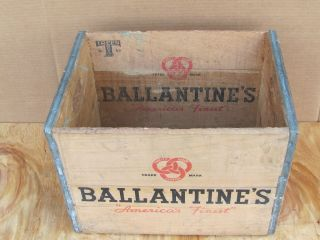 Vintage Antique Wood Wooden Ballantine Beer Soda Milk Beverage Box
