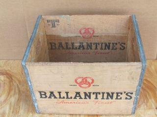 Vintage Antique Wood Wooden Ballantine Beer Soda Milk Beverage Box