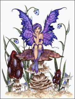 Amy Brown Print New Bored Fairy Faery Mushroom Fantasy