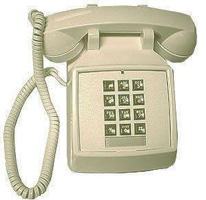 Phone Retro Ivory Push Button Desk Telephone Vintage