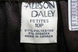 Allison Daley Sz 10P Petite Womens Brown Dress Pants Slacks Stretch