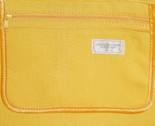 American Eagle Outfitters AEO Sparkle Sequin Yellow Canvas Tote Bag