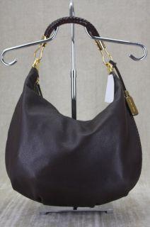 Michael Kors Skorpios Large Brown Leather Crescent Hobo Bag Purse $850