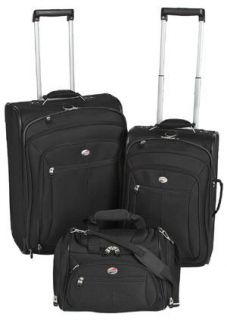 American Tourister Crescent 3 Piece Luggage Set Tote 21 25 Retail $