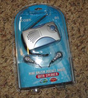Coby CX 5 Mini Am FM Pocket Radio with Speaker New WOW