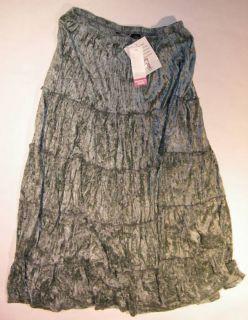 Broomstick Women Long Velvet Skirt Plus Sz 1x 3X New