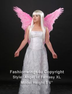 Pink Butterfly Style Feather Wings Angel Fairy Costume