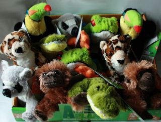 Animal Planet Plush Rain Forest Soft Toys with Sound Bird Crocodile