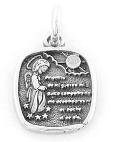 Silver 925 Guardian Angel Charm Pendant Free SHIP