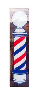 BARBERS 22 TRADITIONAL, ADVERTISNG POLE VINYL DECAL ,STATIC CLING TO